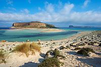 Grece, Crete, province de Chania, baie de Balos et ile de Gramvousa // Greece, Crete Island, Chania, Gramvousa, Balos bay and Gramvousa island