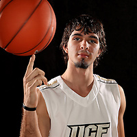 Guard Dogukan Kuzucan of the University of Central Florida Knights mens basketball team poses on media day at the UCF Arena on October 14, 2010 in Orlando, Florida. (AP Photo/Alex Menendez)