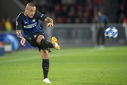 October 4, 2018 - Eindhoven, Netherlands - Radja Nainggolan of Inter kicks the ball during the UEFA Champions League Group B match between PSV Eindhoven and FC Internazionale Milano at Philips Stadium in Eindhoven, Holland on October 3, 2018  (Credit Image: © Andrew Surma/NurPhoto/ZUMA Press)