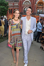 Otis Ferry and Lady Alice Manners at the Victoria & Albert Museum's Summer Party in partnership with Harrods at The V&A Museum, Exhibition Road, London, England. 20 June 2018.