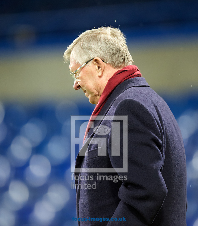 Sir Alex Ferguson leaving the ground after the Barclays Premier League match at Stamford Bridge, London<br /> Picture by Alan Stanford/Focus Images Ltd +44 7915 056117<br /> 07/02/2016
