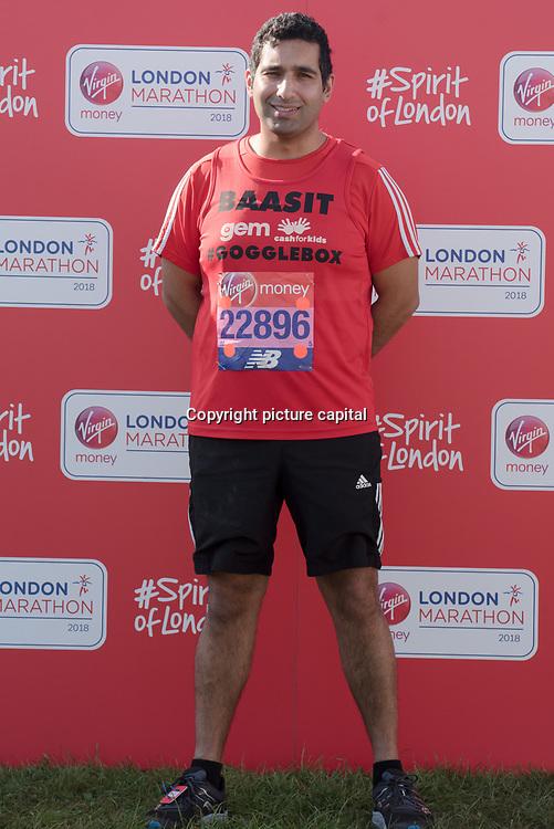Runner at London Marathon 2018 on 22 April 2018, Blackhealth, London, UK.