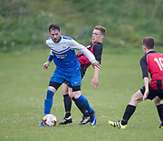FC Kettledrum (red and black) v Coldside Athletic (blue) in the Dundee Saturday Morning Football League at Drumgeith, Dundee, Photo: David Young<br /> <br />  - &copy; David Young - www.davidyoungphoto.co.uk - email: davidyoungphoto@gmail.com