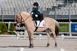 Birgitte Reitan riding SNO in the Grade 1a Para-Dressage at the 2014 World Equestrian Games, Caen, Normandy, France..