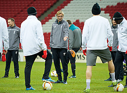 KAZAN, RUSSIA - Wednesday, November 4, 2015: Liverpool's manager Jürgen Klopp during a training session at the Kazan Arena ahead of the UEFA Europa League Group Stage Group B match against FC Rubin Kazan. (Pic by Oleg Nikishin/Propaganda)