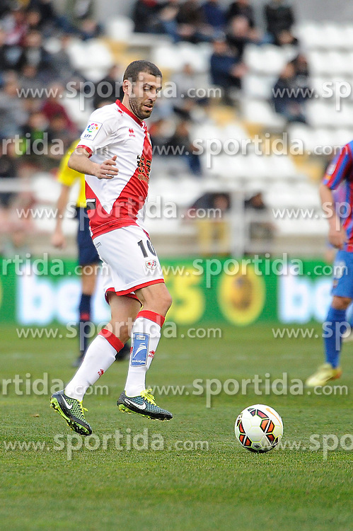 28.02.2015, Campo de Futbol, Madrid, ESP, Primera Division, Rayo Vallecano vs Levante UD, 25. Runde, im Bild Rayo Vallecano&acute;s Roberto Trashorras // during the Spanish Primera Division 25th round match between Rayo Vallecano and Levante UD at the Campo de Futbol in Madrid, Spain on 2015/02/28. EXPA Pictures &copy; 2015, PhotoCredit: EXPA/ Alterphotos/ Luis Fernandez<br /> <br /> *****ATTENTION - OUT of ESP, SUI*****
