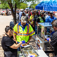 Free lunch was given to everyone who attended the Wyland Foundation honoring the City of Gallup for being one of the top five cities in the Wyland National Mayor's Challenge for Water Concservation, Tuesday morning at the McKinley County Courthouse Square.