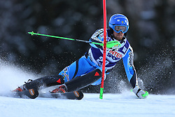 06.01.2014, Stelvio, Bormio, ITA, FIS Weltcup Ski Alpin, Bormio, Slalom, Herren, im Bild Axel Baeck // Axel Baeck  in action during mens Slalom of the Bormio FIS Ski World Cup at the Stelvio in Bormio, Italy on 2014/01/06. EXPA Pictures © 2014, PhotoCredit: EXPA/ Sammy Minkoff<br /> <br /> *****ATTENTION - OUT of GER*****
