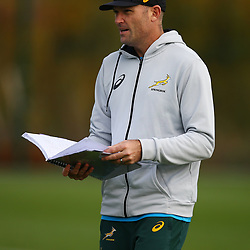 PARIS, FRANCE - NOVEMBER 08: Jacques Nienaber (Defence Coach) of South Africa during the South African national rugby team training session at Insep High Performance Centre on November 08, 2018 in Paris, France. (Photo by Steve Haag/Gallo Images)