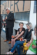 BRIAN CATLING;, PENELOPE CURTIS; ELIZABETH PRICE, Matt's Gallery 35th birthday fundraising supper.  42-44 Copperfield Road, London E3 4RR. 12 June 2014.