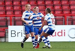 Rachel Rowe (c) of Reading Women celebrates scoring a goal - Mandatory by-line: Gary Day/JMP - 22/04/2017 - FOOTBALL - Ashton Gate - Bristol, England - Bristol City Women v Reading Women - FA Women's Super League 1 Spring Series