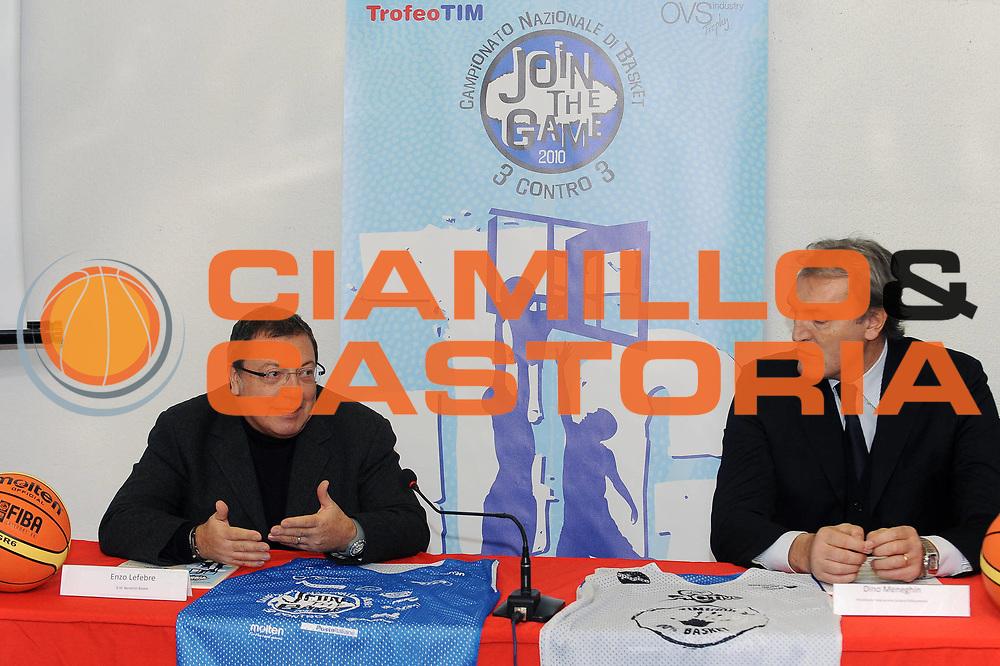 DESCRIZIONE : Milano Lega A 2009-10 Presentazione VIII edizione di Join the Game &ndash; Trofeo TIM<br /> GIOCATORE : Enzo Lefebre Dino Meneghin<br /> SQUADRA : Benetton Treviso<br /> EVENTO : Campionato Lega A 2009-2010 <br /> GARA :<br /> DATA : 23/01/2010<br /> CATEGORIA : Ritratto<br /> SPORT : Pallacanestro <br /> AUTORE : Agenzia Ciamillo-Castoria/A.Dealberto<br /> Galleria : Lega Basket A 2009-2010 <br /> Fotonotizia : Milano Campionato Italiano Lega A 2009-2010 Presentazione VIII edizione di Join the Game &ndash; Trofeo TIM<br /> Predefinita :