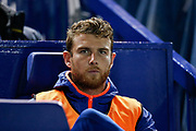 Sam Winnall of Sheffield Wednesday on the bench during the EFL Sky Bet Championship match between Sheffield Wednesday and Stoke City at Hillsborough, Sheffield, England on 22 October 2019.