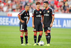 28.09.2013, BayArena, Leverkusen, GER, 1. FBL, Bayer 04 Leverkusen vs Hannover 96, 7. Runde, im Bild Sidney Sam #18 (Bayer 04 Leverkusen), Heung-Min Son #7 (Bayer 04 Leverkusen) und Emre Can #10 (Bayer 04 Leverkusen). (v.l.) // during the German Bundesliga 7th round match between Bayer 04 Leverkusen and Hannover at the BayArena, Leverkusen, Germany on 2013/09/28. EXPA Pictures © 2013, PhotoCredit: EXPA/ Eibner/ Grimme<br /> <br /> ***** ATTENTION - OUT OF GER *****