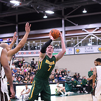 5th year forward Travis Sylvestre (7) of the Regina Cougars in action during the home game on January  14 at Centre for Kinesiology, Health and Sport. Credit: /Arthur Images