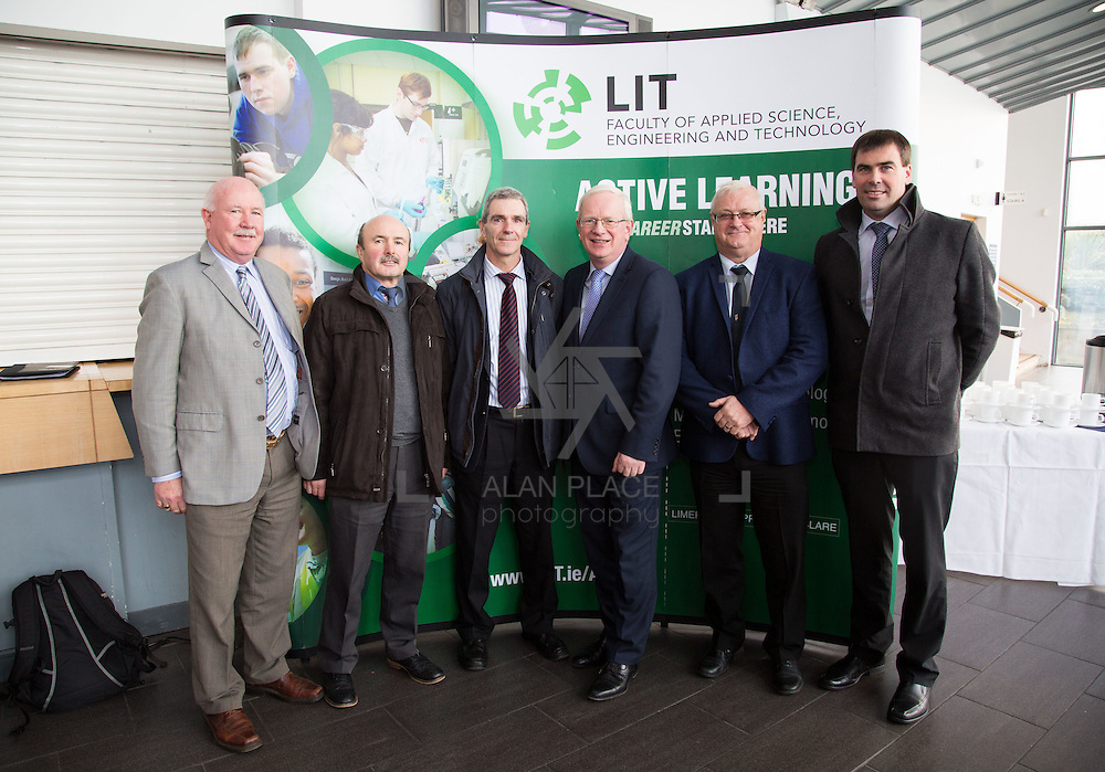 21/08/2015             <br /> Launch of LIT Department of Electrical and Electronic Engineering, Apprenticeship in Industrial Electrical Engineering. <br /> <br /> Attending the launch were, Charlie Walsh, LWETB, Tony Gordon, LCETB, Mike O&quot;Donnell, LCETB, Prof. Vincent Cunnane, President LIT, Peter Heffernan, LDETB and Des Lance, LCETB. Picture: Alan Place