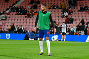 Jake Clarke-Salter of England U21's warming up before the U21 International match between England and Germany at the Vitality Stadium, Bournemouth, England on 26 March 2019.