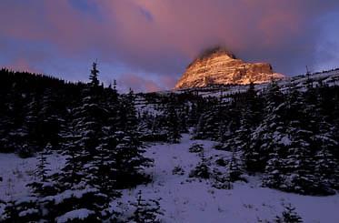 Glacier National Park, Mount Clements. Montana.