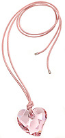 pink heart necklace crystal