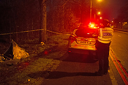 ©Licensed to London News Pictures 15/03/2020<br /> Woolwich, UK. Detectives are investigating following the fatal stabbing of a man in Woolwich, London. Part of Woolwich Common has a police cordon in place with police on guard.  Photo credit: Grant Falvey/LNP