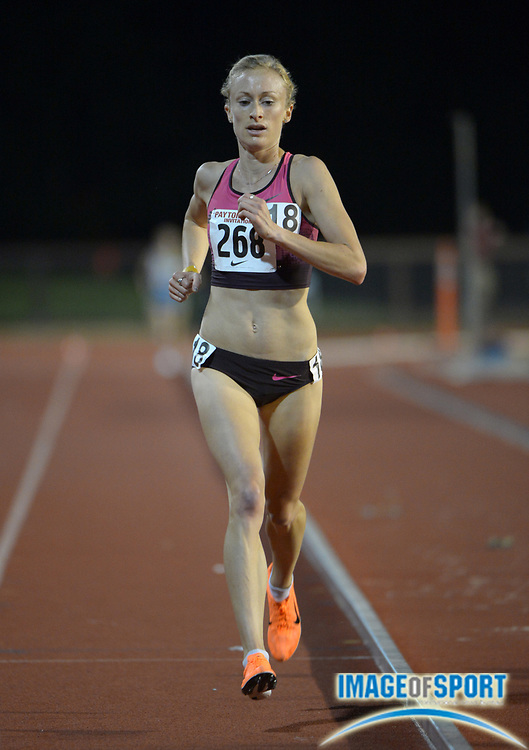 Apr 28, 2013; Stanford, CA, USA; Lindsay Allen competes in the 5,000m in the 2013 Payton Jordan Invitational at Cobb Track & Angell Field.