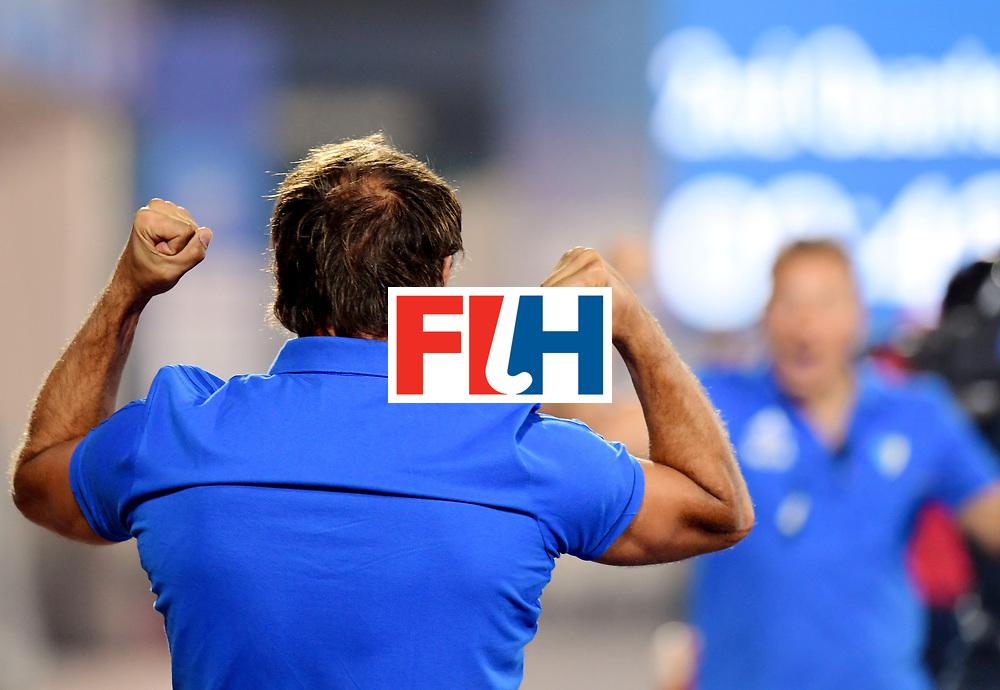 Odisha Men's Hockey World League Final Bhubaneswar 2017<br /> Match id:14<br /> England v Argentina<br /> Foto: Argentina scored a goal <br /> coach Carlos Retegui (Arg) <br /> COPYRIGHT WORLDSPORTPICS FRANK UIJLENBROEK