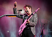 Matt Bellamy of Muse performs live on Main Stage at Reading Festival 2011 on August 28, 2011 in Reading, England.