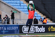 Coventry City goalkeeper Reice Charles-Cook (23)  during the Sky Bet League 1 match between Coventry City and Millwall at the Ricoh Arena, Coventry, England on 16 April 2016. Photo by Simon Davies.