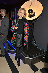 TESS WARD at a party to celebrate the 1st anniversary of Hello! Fashion Monthly magazine held at Charlie, 15 Berkeley Street, London on 14th October 2015.