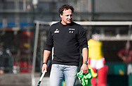 WASSENAAR - coach Jan Jorn van t Land (HGC) voor   de hoofdklasse hockeywedstrijd HGC-Den Bosch (3-2). COPYRIGHT KOEN SUYK