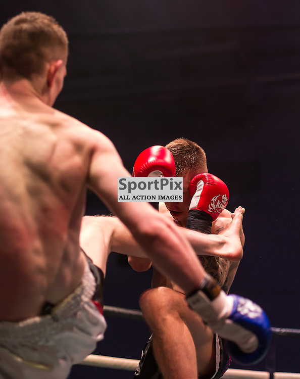 Action from the fight between Jordan Cumberton and Justin Flannigan (c) ROSS EAGLESHAM | SportPix.org.uk
