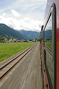Zillertal, Tyrol, Austria, Steam hauled tourist train on the narrow gauge Zillertalbahn