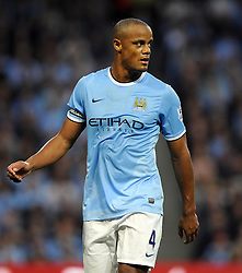 Manchester City's Vincent Kompany  - Photo mandatory by-line: Joe Meredith/JMP - Tel: Mobile: 07966 386802 19/08/2013 - SPORT - FOOTBALL - Etihad Stadium - Manchester - Manchester City V Newcastle United - Barclays Premier League