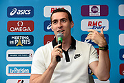 Sergey Shubenkov (ANA) during press conference of Meeting de Paris 2018, Diamond League, at Hotel Marriott, in Paris, France, on June 29, 2018 - Photo Jean-Marie Hervio / KMSP / ProSportsImages / DPPI
