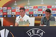 Eduardo Berizzo Head Coach of Celta Vigo during the Celta Vigo v Manchester United Press Conference at Balaidos, Vigo, Spain on 3 May 2017. Photo by Phil Duncan.