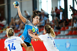 Tjasa Stanko of Krim Mercator during hanball match between RK Krim Mercator and RK Lokomotiva Zagreb at 15th Vinko Kandija Memorial, on August 18, 2018 in Dvorana Kodeljevo, Ljubljana, Slovenia. Photo by Matic Klansek Velej / Sportida