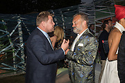 JAMES CORDEN; GRAHAM NORTON, Serpentine's Summer party co-hosted with Christopher Kane. 15th Serpentine Pavilion designed by Spanish architects Selgascano. Kensington Gardens. London. 2 July 2015.