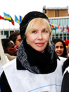 Trudie Styler attends the March To End Violence Against Women at the United Nations Headquarters in New York City, New York on March 07, 2014.