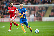 Louis Dodds of Shrewsbury Town in action during the EFL Sky Bet League 1 match between Walsall and Shrewsbury Town at the Banks's Stadium, Walsall, England on 7 October 2017. Photo by Darren Musgrove.
