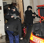12.JANUARY.2011.LONDON<br /> <br /> POLICE LOCK DOWN CENTRAL LONDON AND CLOSE REGENT STREET IN THE EARLY HOURS OF THE MORNING FOR A SUSPECTED BOMB SCARE. ARMED OFFICERS AND FIRE CREWS WERE CALLED TO THE AREA NEAR MAYFAIR POLICE STATION.<br /> <br /> BYLINE: EDBIMAGEARCHIVE.COM<br /> <br /> *THIS IMAGE IS STRICTLY FOR UK NEWSPAPERS AND MAGAZINES ONLY*<br /> *FOR WORLD WIDE SALES AND WEB USE PLEASE CONTACT EDBIMAGEARCHIVE - 0208 954 5968*