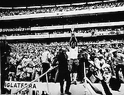 CARLOS ALBERTO AND TROPHY.CELEBRATION.BRAZIL V ITALY WORLD CUP FINAL 1970.SOCCER WORLD CUP.1970