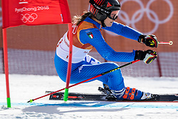 PYEONGCHANG-GUN, SOUTH KOREA - FEBRUARY 15: Manuela Moelgg of Italy competes during the Alpine Skiing Women's Giant Slalom at Yongpyong Alpine Centre on February 15, 2018 in Pyeongchang-gun, South Korea. Photo by Ronald Hoogendoorn / Sportida