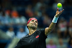 August 28, 2018 - Flushing Meadow, NY, U.S. - FLUSHING MEADOW, NY - AUGUST 27: DAVID FERRER (ESP) day one of the 2018 US Open on August 27, 2018 at Billie Jean King National Tennis Center in Flushing Meadow NY (Photo by Chaz Niell/Icon Sportswire) (Credit Image: © Chaz Niell/Icon SMI via ZUMA Press)