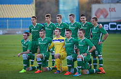 SOFIA, BULGARIA - Wednesday, November 26, 2014: PFC Ludogorets Razgrad players line up for a team group photograph before the UEFA Youth League Group B match against Liverpool at the Georgi Asparuhov Stadium. (Pic by David Rawcliffe/Propaganda)