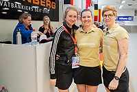 HAMBURG  (Ger) - Match 19,  for bronze , Der Club an der Alster (Ger) - Club Campo de Madrid (Esp) (7-0)  Photo: umpires Claire Druijts, Xenia Ulrich (r) and Elena Ozerskaia (Bul)Club Cup 2019 Women . WORLDSPORTPICS COPYRIGHT  KOEN SUYK