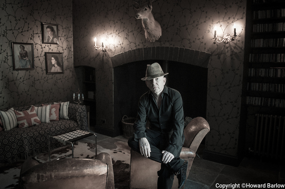 Alan McGee - founder of Creation Records and the man behind Oasis fame - at his home in rural mid Wales - 2013