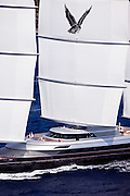 Maltese Falcon during the 2011  St. Barths Bucket Regatta Race 3.