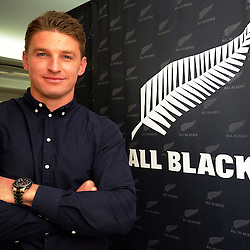 Beauden Barrett announces his resigning with the All Blacks, Hurricanes and Taranaki RFU at the New Zealand Rugby Union Head Office, Wellington, New Zealand on Monday, 29 August 2016. Photo: Dave Lintott / lintottphoto.co.nz