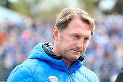 16.04.2016, Merck Stadion am Boellenfalltor, Darmstadt, GER, 1. FBL, SV Darmstadt 98 vs FC Ingolstadt 04, 30. Runde, im Bild Ralph Hasenhuettl/ Trainer/ FC Ingolstadt 04 // during the German Bundesliga 30th round match between SV Darmstadt 98 and FC Ingolstadt 04 at the Merck Stadion am Boellenfalltor in Darmstadt, Germany on 2016/04/16. EXPA Pictures © 2016, PhotoCredit: EXPA/ Eibner-Pressefoto/ Roskaritz<br /> <br /> *****ATTENTION - OUT of GER*****