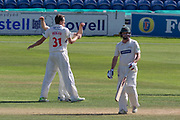 WICKET - Paul Horton is bowled by Michael Hogan during the Specsavers County Champ Div 2 match between Glamorgan County Cricket Club and Leicestershire County Cricket Club at the SWALEC Stadium, Cardiff, United Kingdom on 17 September 2019.